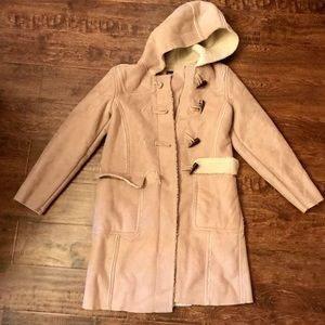 Gap suede and Sherpa hooded parka